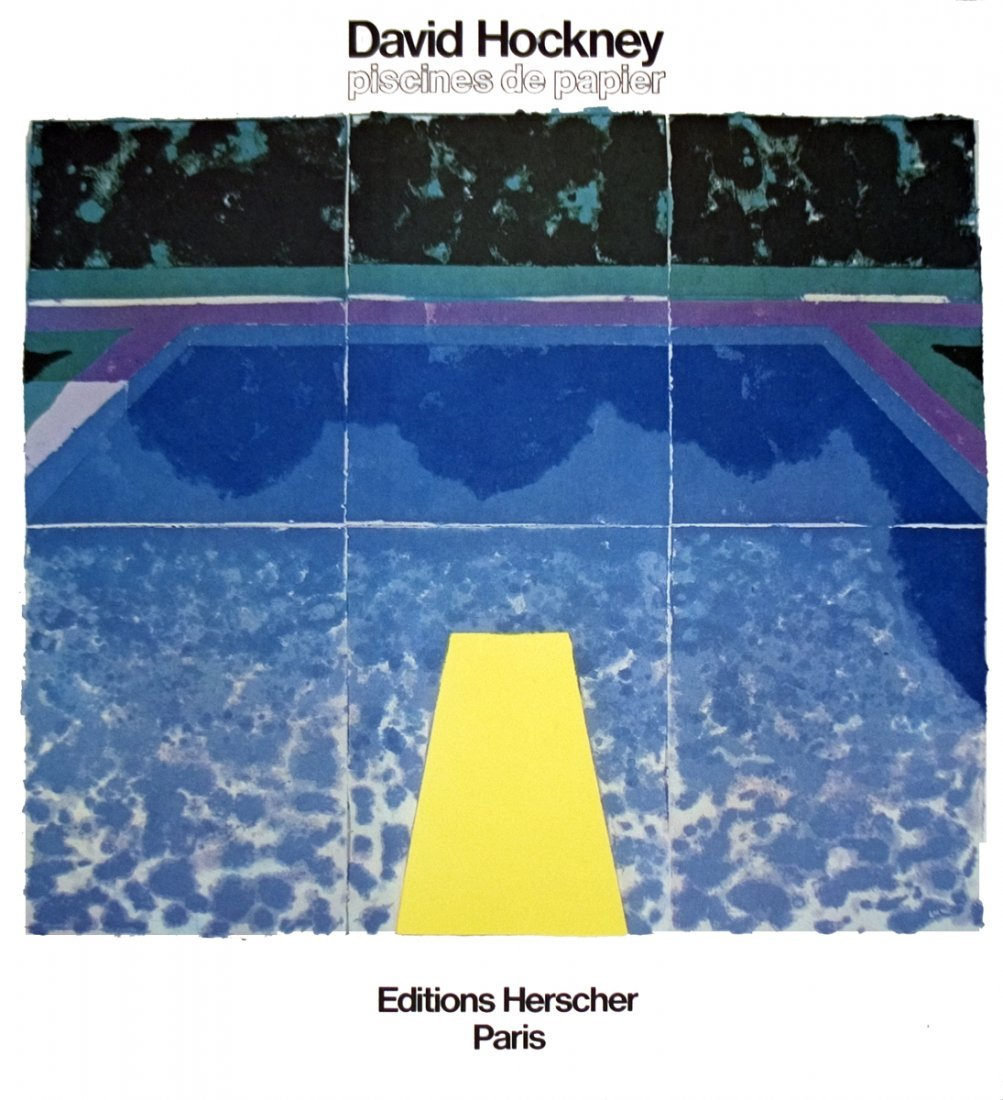 4 Assorted Hockney Pools Posters