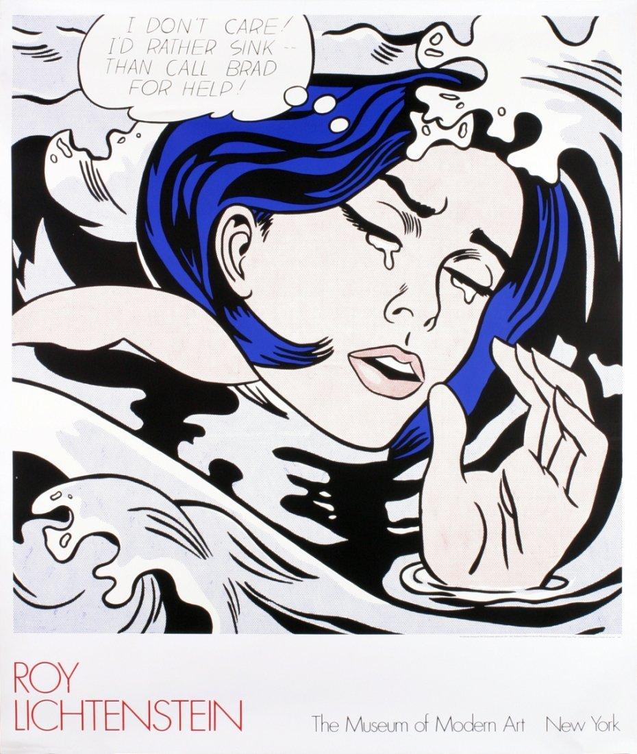8 Assorted Lichtenstein Girls Posters