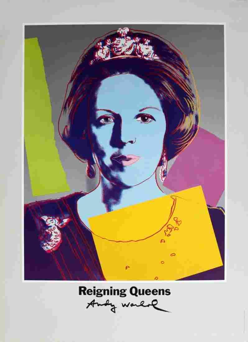 1986 Warhol Queen Beatrix, Netherlands Poster