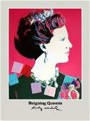 1986 Warhol Queen Margrethe II of Denmark Poster