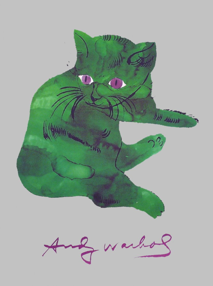 5 Warhol Cat From 25 Cats Posters