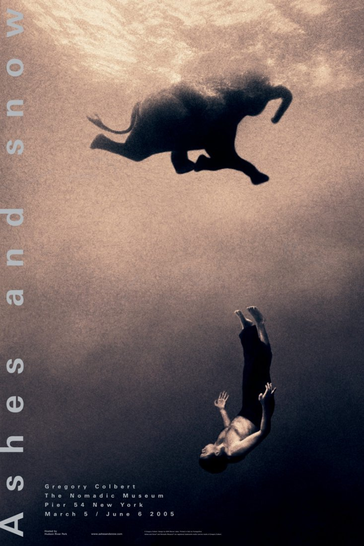 Gregory Colbert Swimming with Elephant Poster