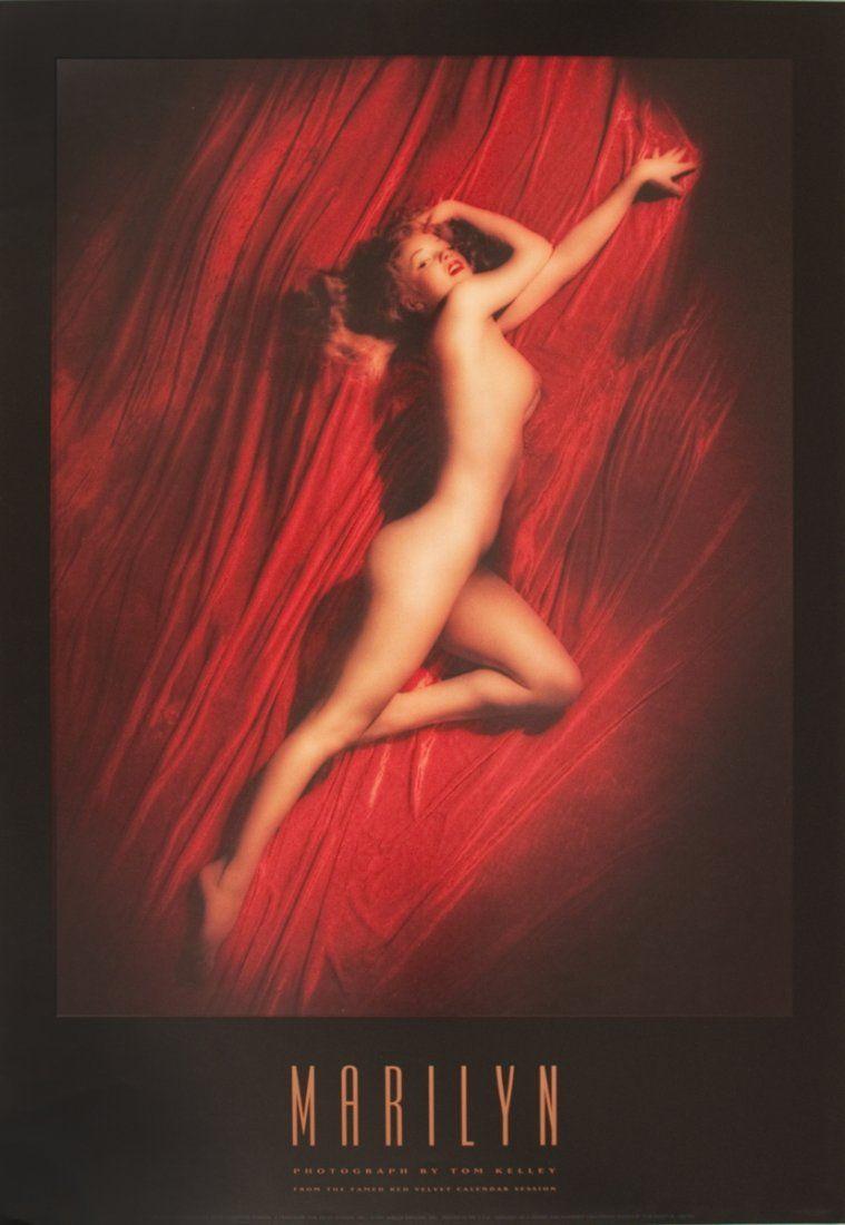Kelley Marilyn Monroe, Red Velvet Calendar Poster
