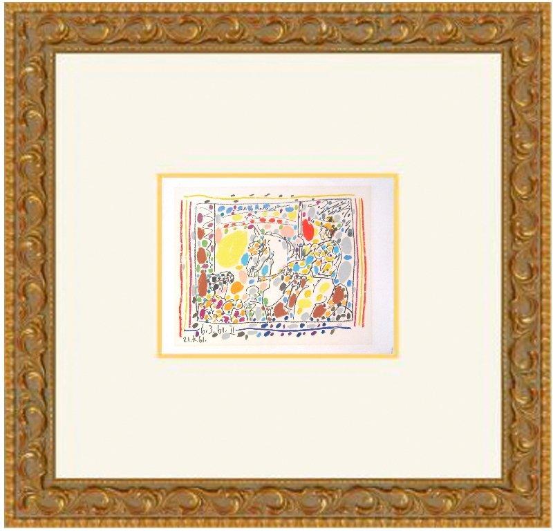 1961 Picasso Le Picador II Mourlot Lithograph