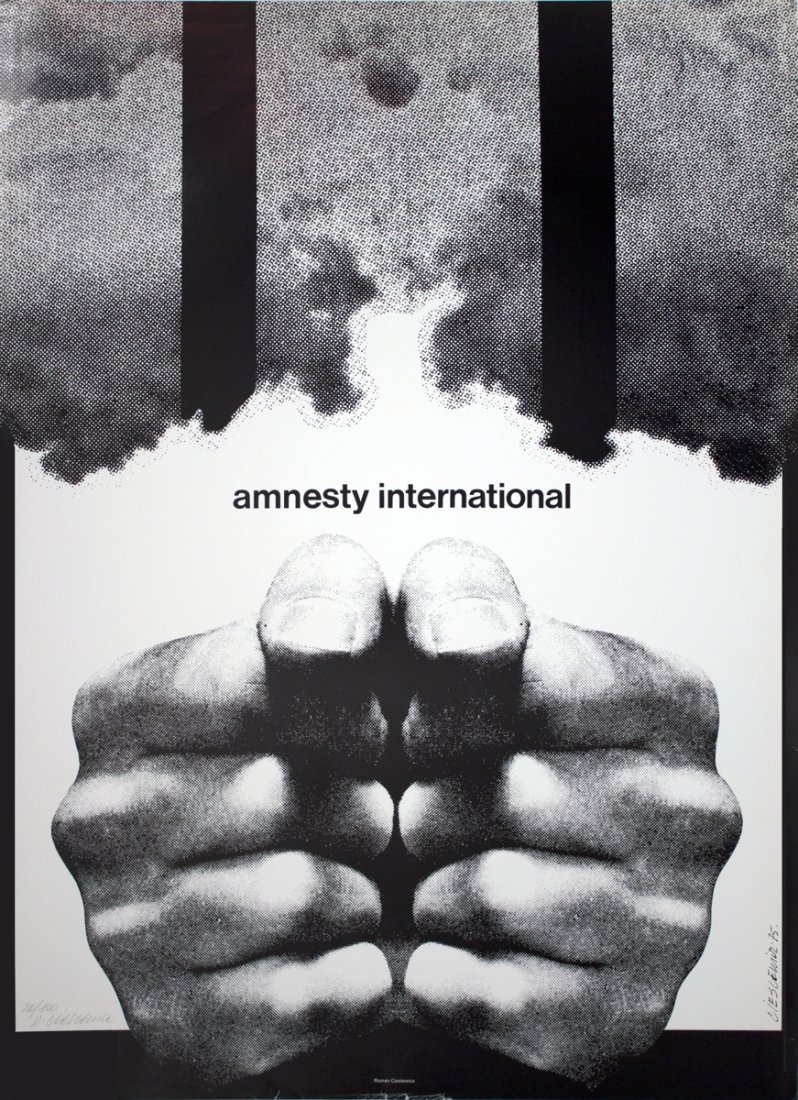 S/N Cieslewicz Amnesty International Offset Litho