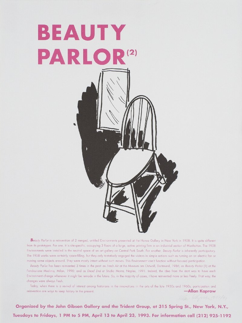Signed 1993 Kaprow Beauty Parlor Lithograph