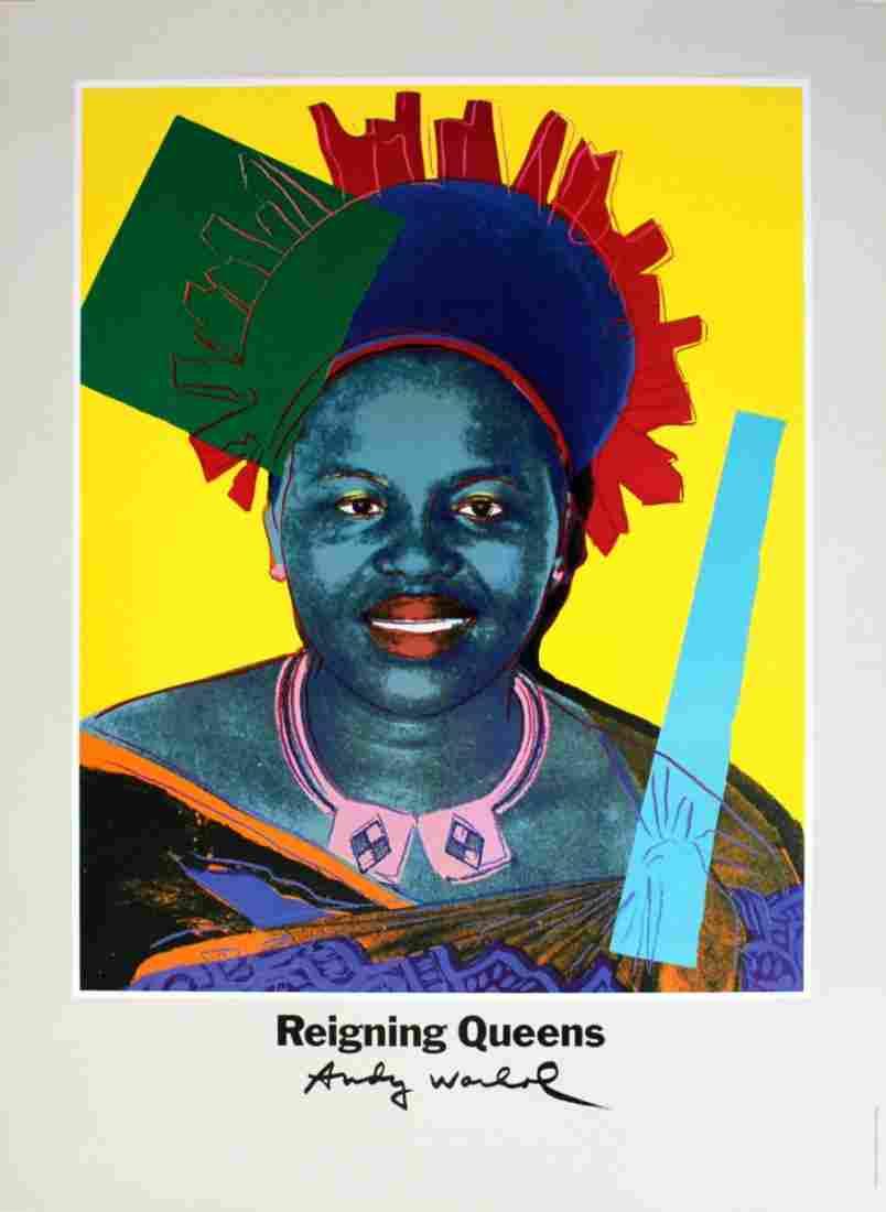 Warhol Queen Ntombi Twala Of Swaziland Poster