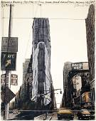 S/N 1985 Christo Wrapped Times Square Building