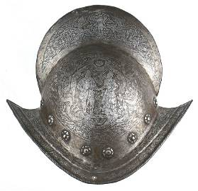 16th Century combed Morion helmet rare