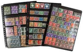 German WWII stamp collection commemoratives