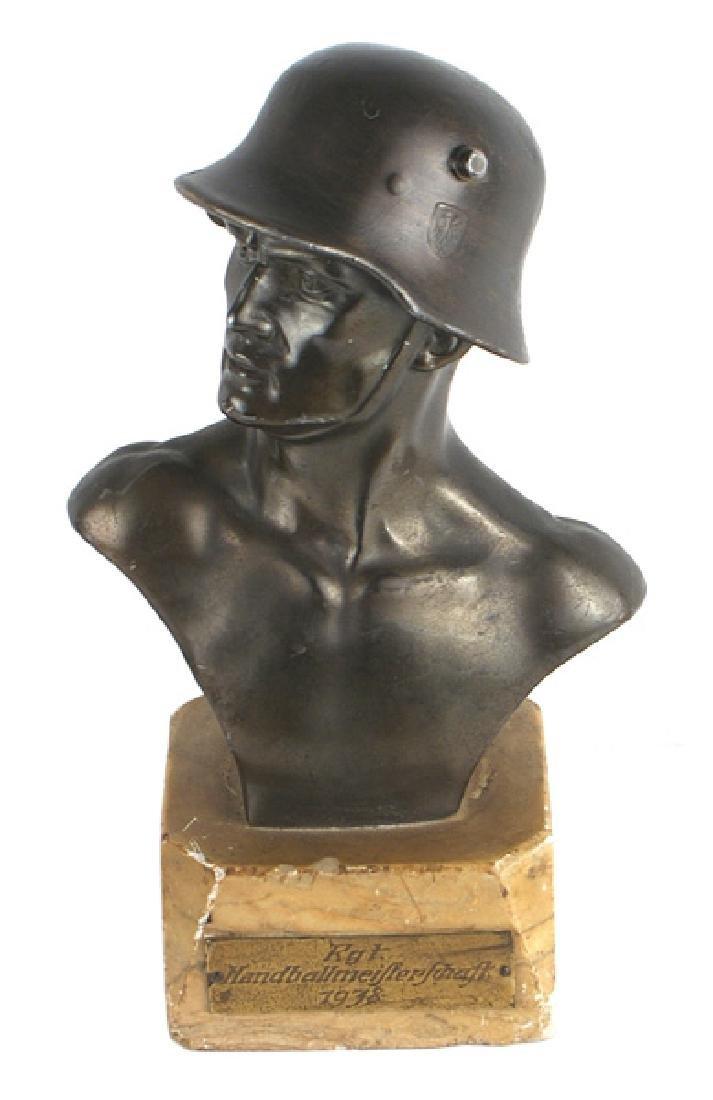 Bronzed German WWII soldier sports prize