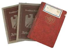 Lot of 3 German WWII ID booklets