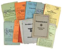 Lot of 20 German WWII ID booklets