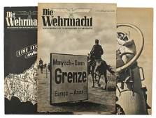 Lot of 3 German WWII magazine Die Wehrmacht