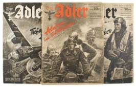 Lot of German WWII magazine Der Adler