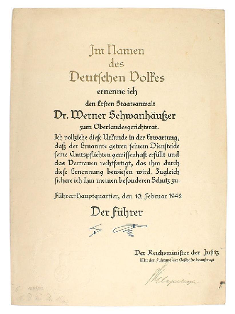 Nuremberg War Crimes Trials lot document etc