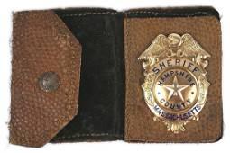 American Gold Sheriff Badge Massachusetts