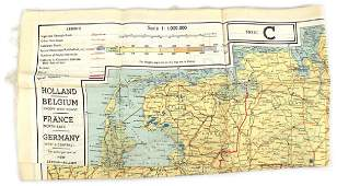 US WWII Army Air Force escape map