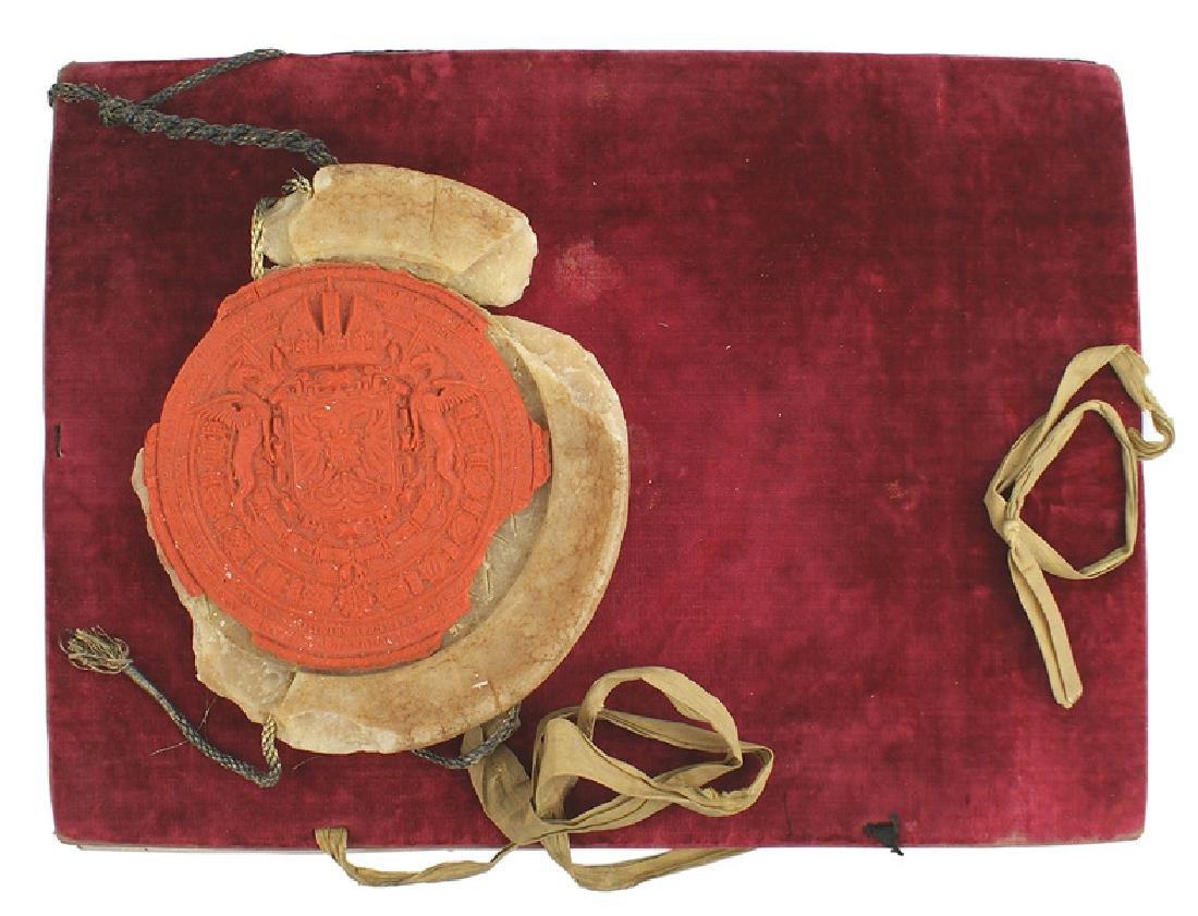 Holy Roman Empire Title of Nobility parchment