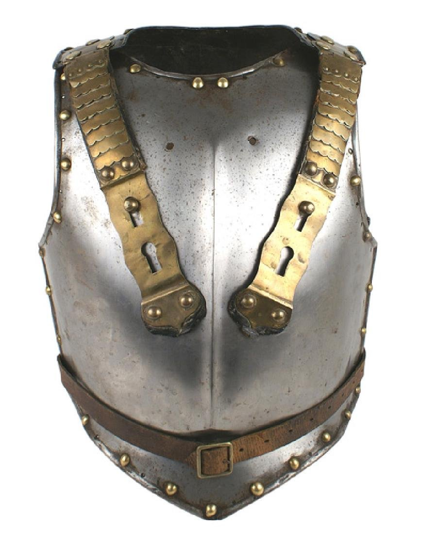 Bavarian Circa 1870 steel cuirass armor