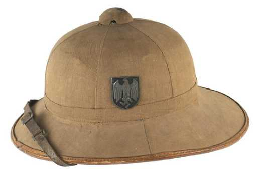 1df23d6fd820f German WWII Army EM Afrika Korps pith helmet. placeholder. See Sold Price