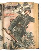 Bound German WWII book Die Wehrmacht
