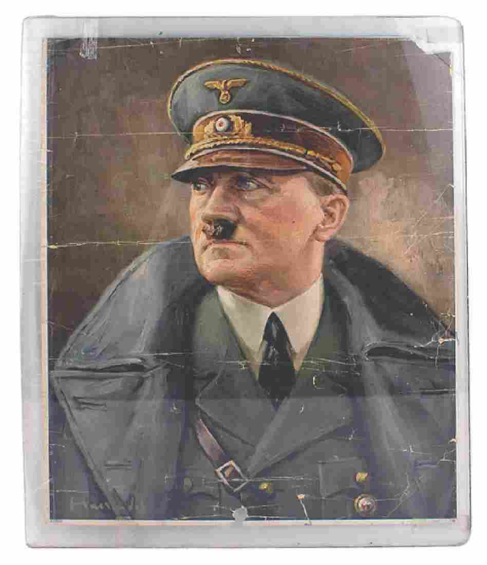 German WWII print of Adolf Hitler
