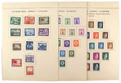 Lot German WWII unissued stamps Hitler Heads