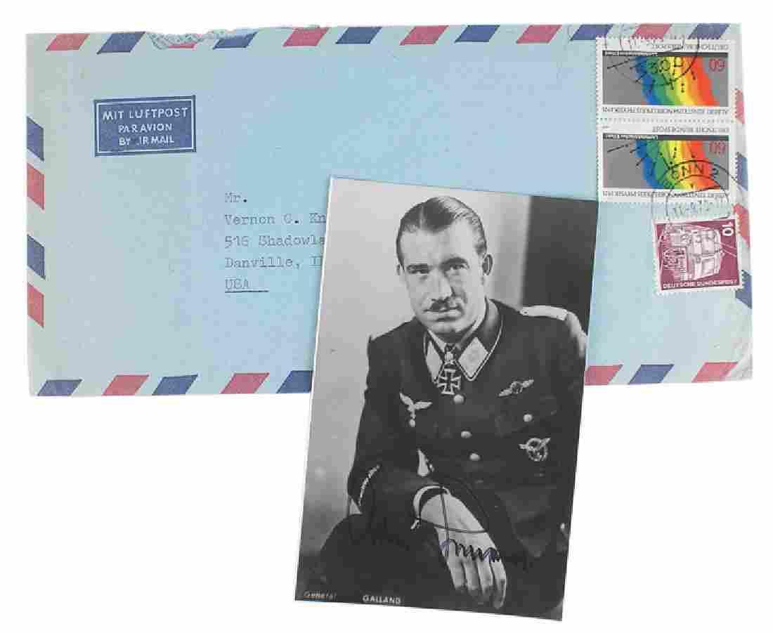 WWII Luftwaffe ace General Adolf Galland signed photo
