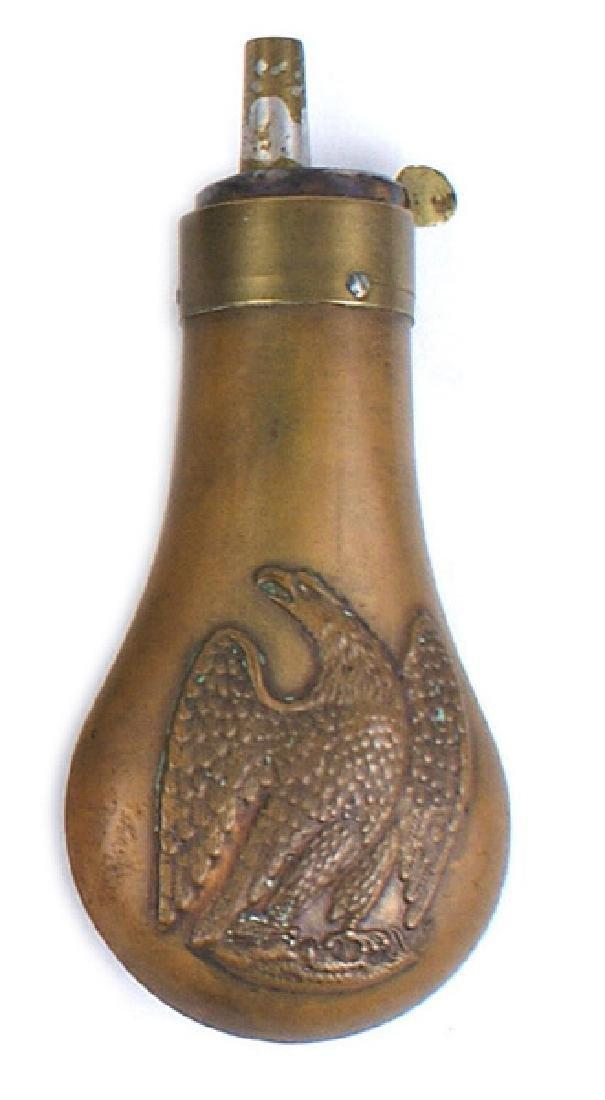 U.S. copper pistol flask Circa 1850