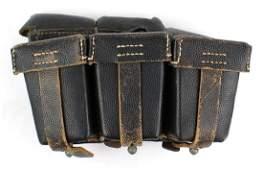 German WWII Navy K98 cartridge pouches