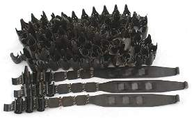 German WWII chain link machine gun belts