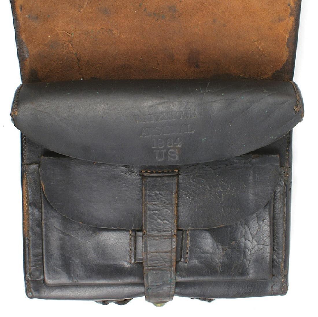 Civil War Union 58 cal. Cartridge box - 2
