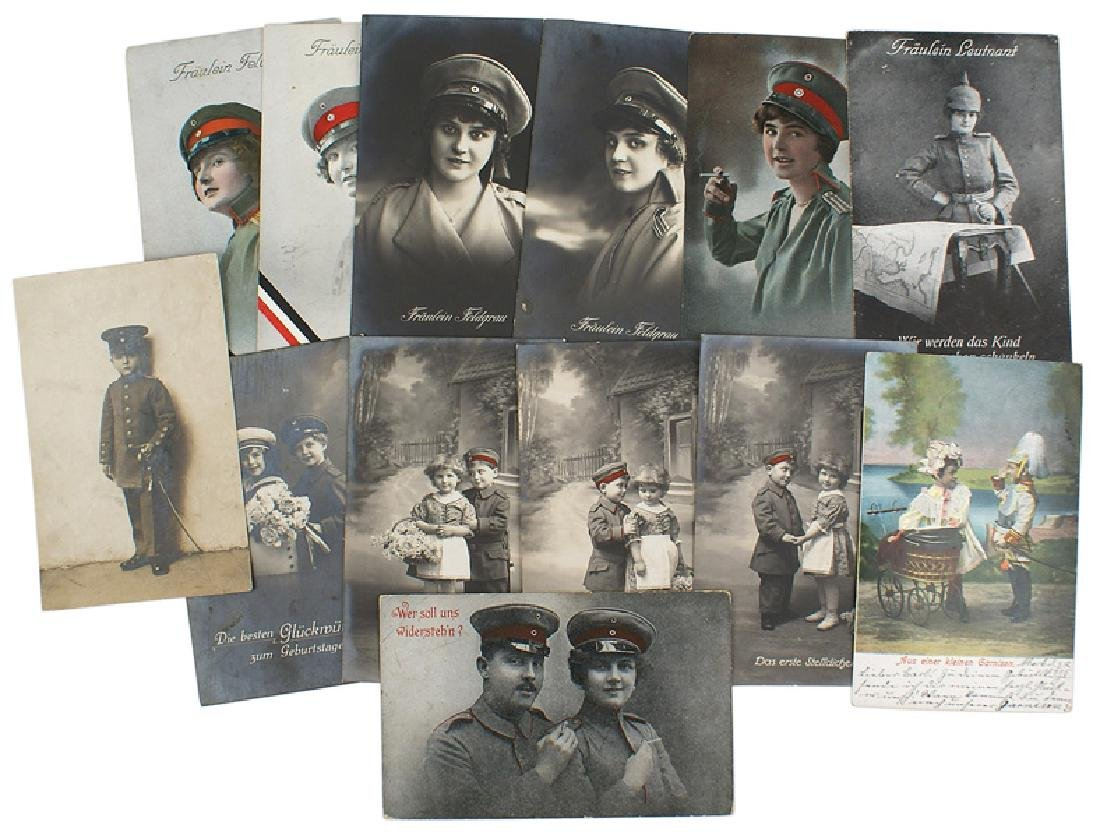 Lot of 13 German WWI postcards