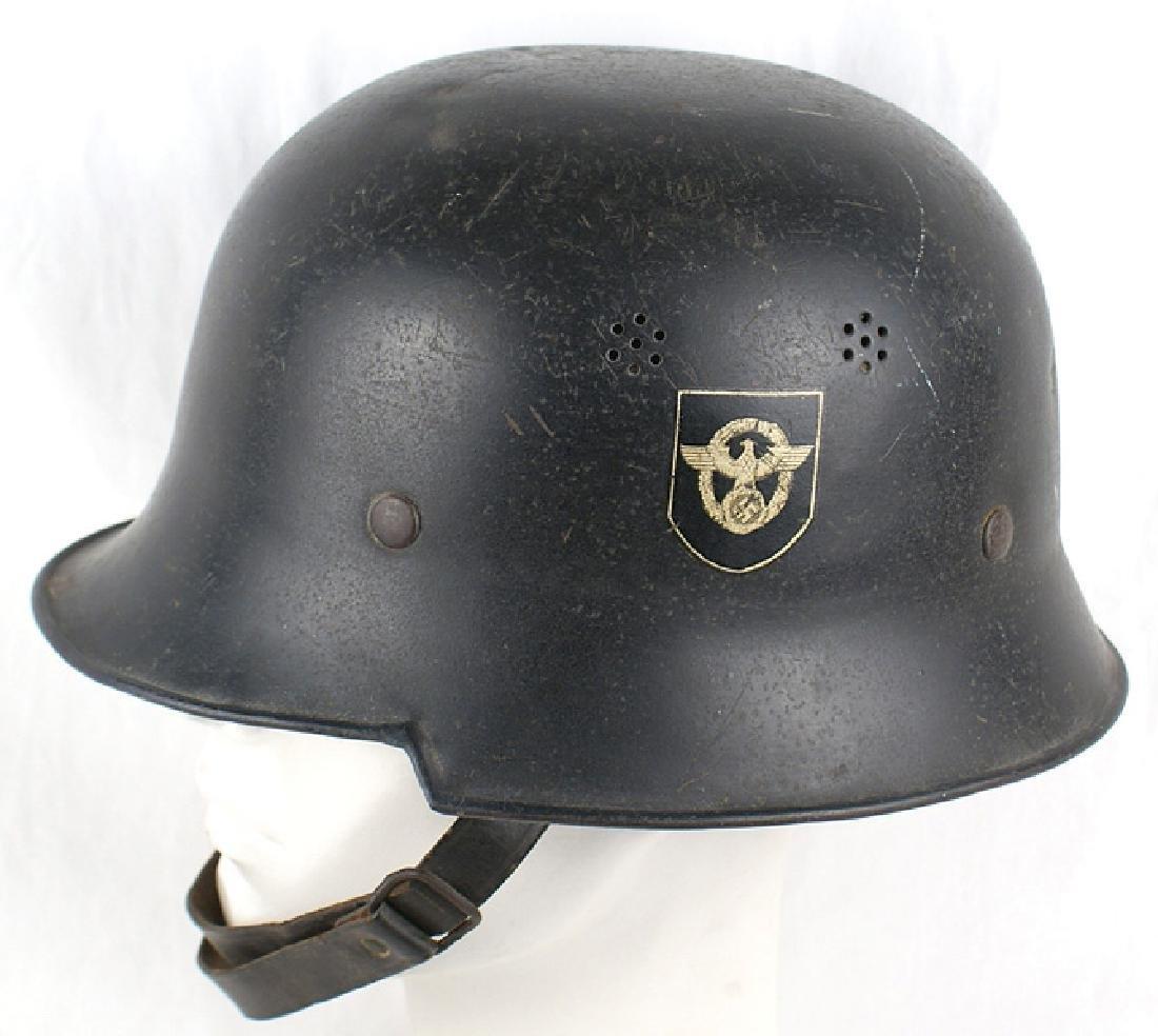 German WWII Police Civic square dip helmet