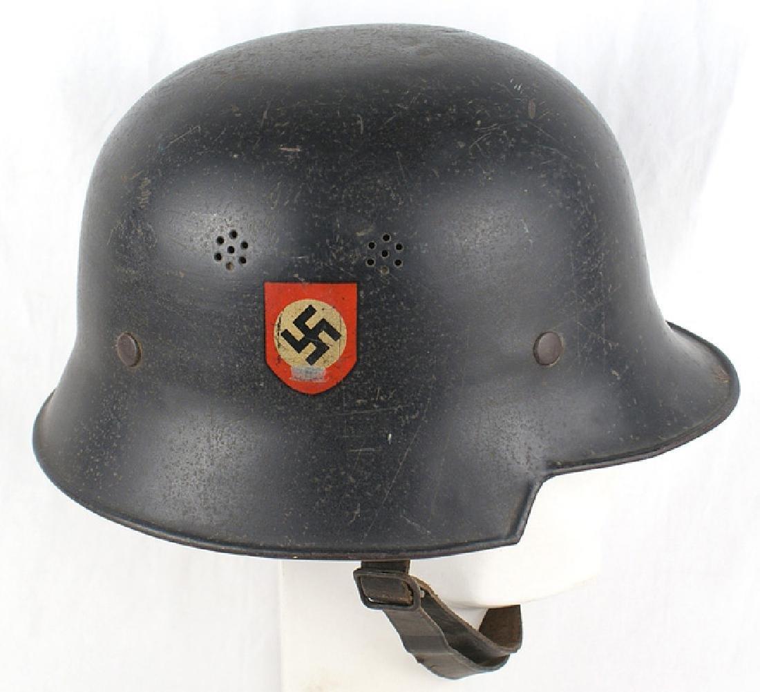 German WWII Police Civic square dip helmet - 2
