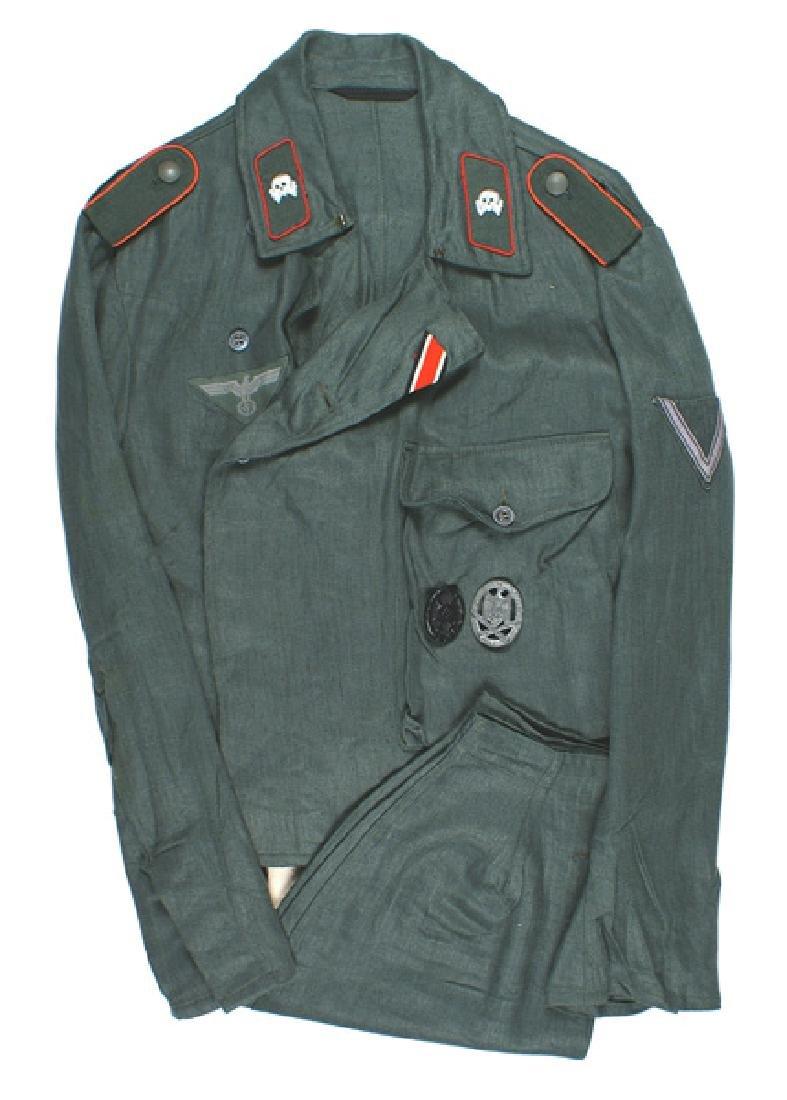 German WWII Army Assault Gunner HBT tunic pants