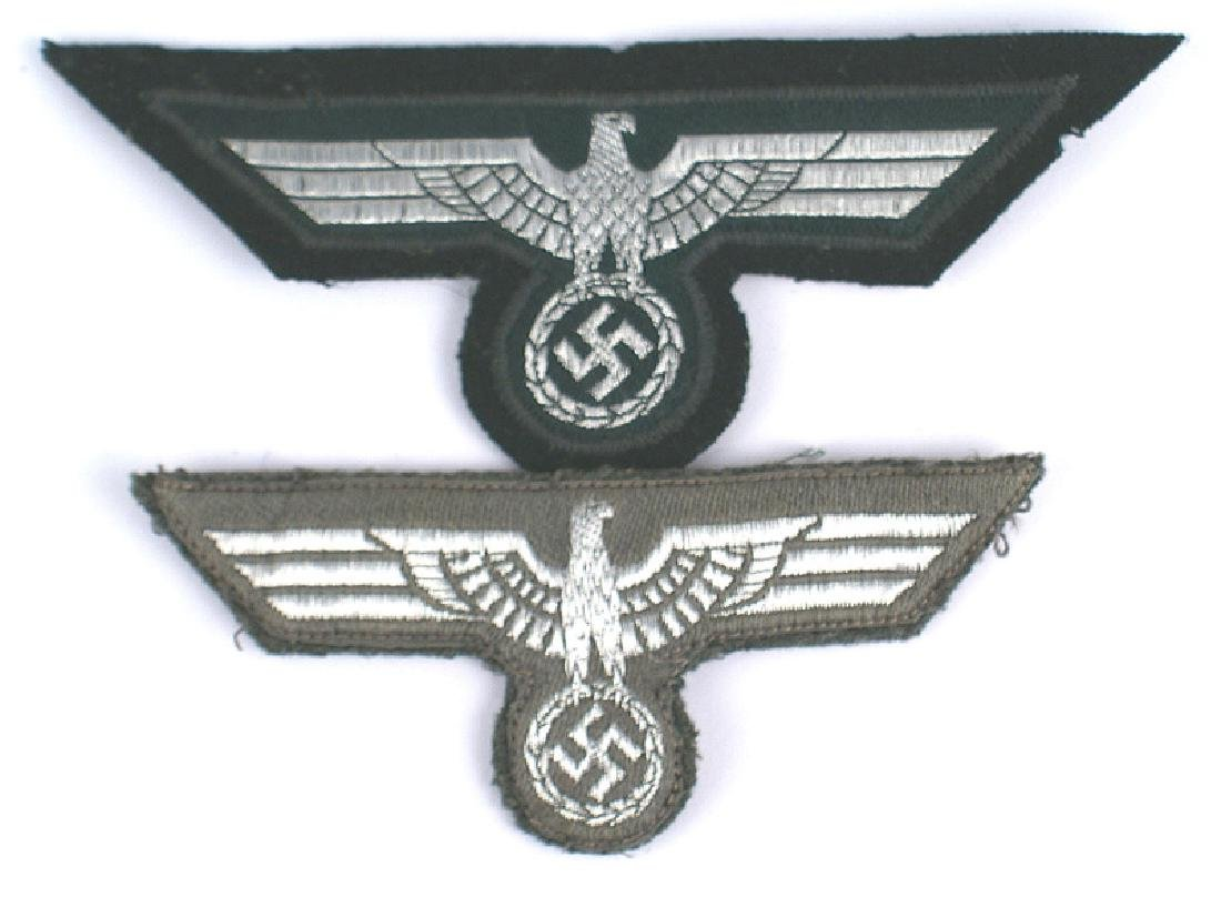 Lot of 2 German WWII Army breast eagles