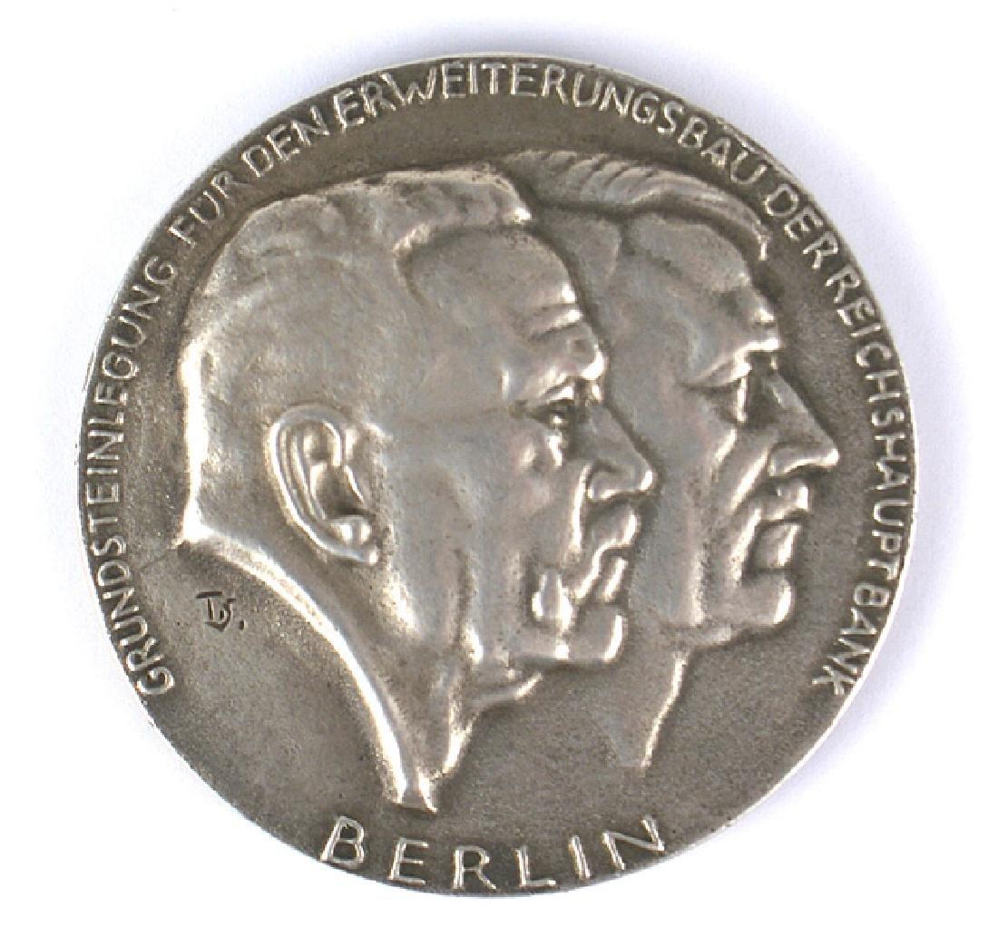 German WWII silver medal Reichs Bank Berlin