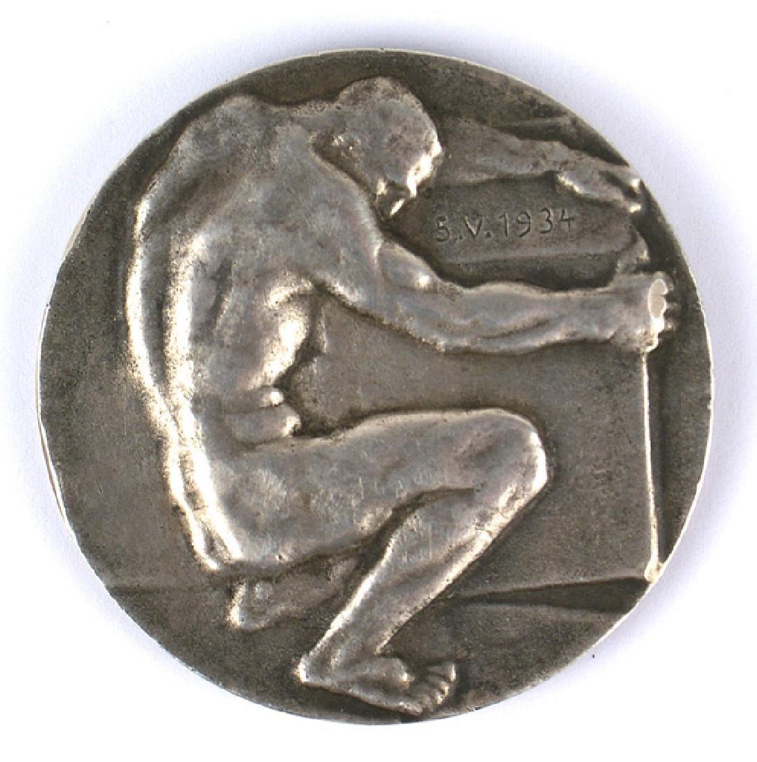 German WWII silver medal Reichs Bank Berlin - 2