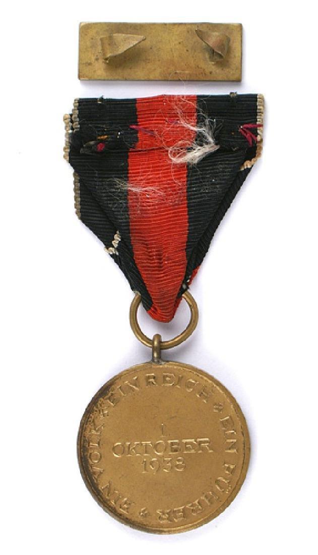 German WWII Sudetenland Annexation Medal - 2