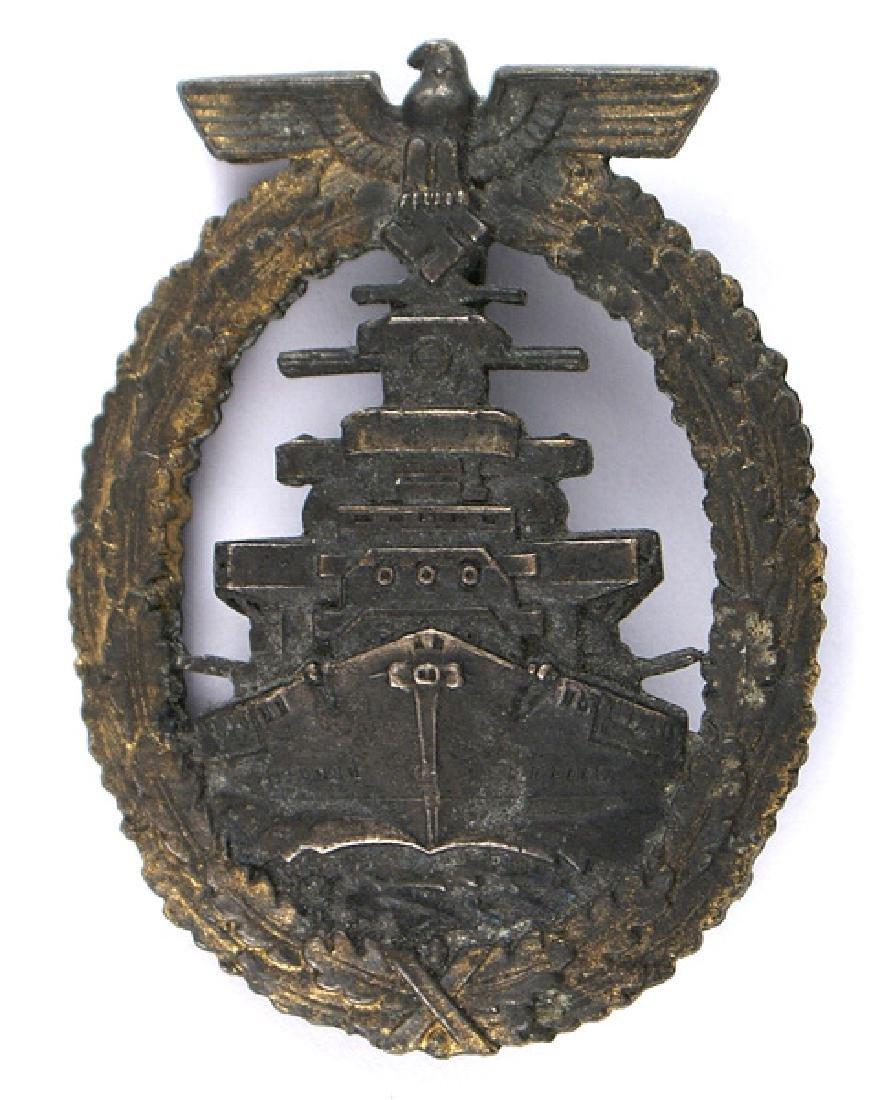 German WWII Navy Fleet Service Badge