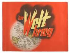German WWII book Weltkrieg cigarette card album