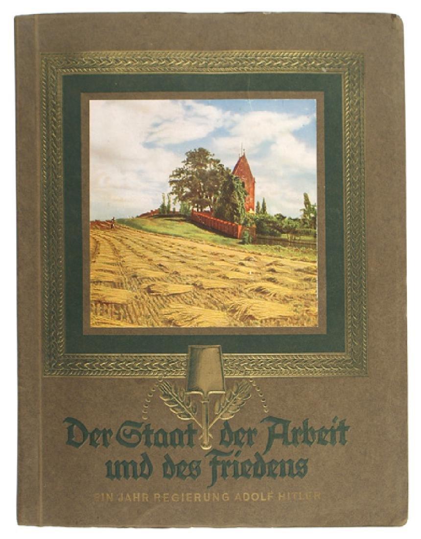 German WWII Arbeit Friedens cigarette card album
