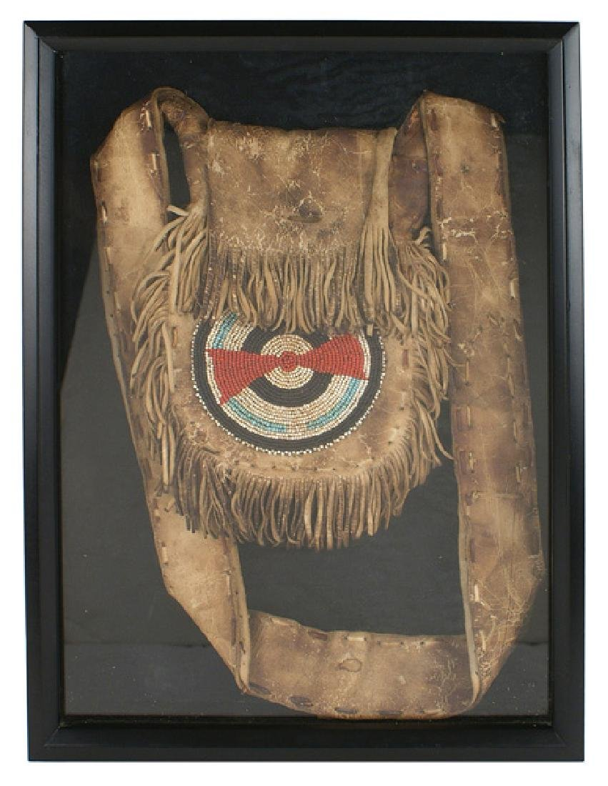 American Indian Lakota Sioux tobacco pouch