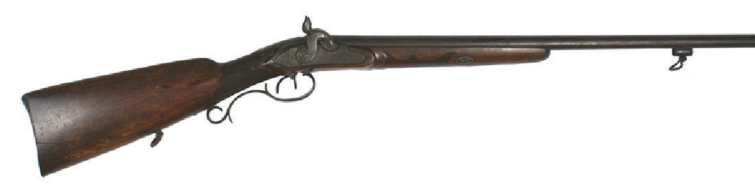 German percussion double barrel shotgun