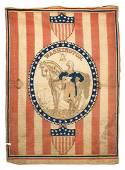 1876 Centennial George Washington textile flag