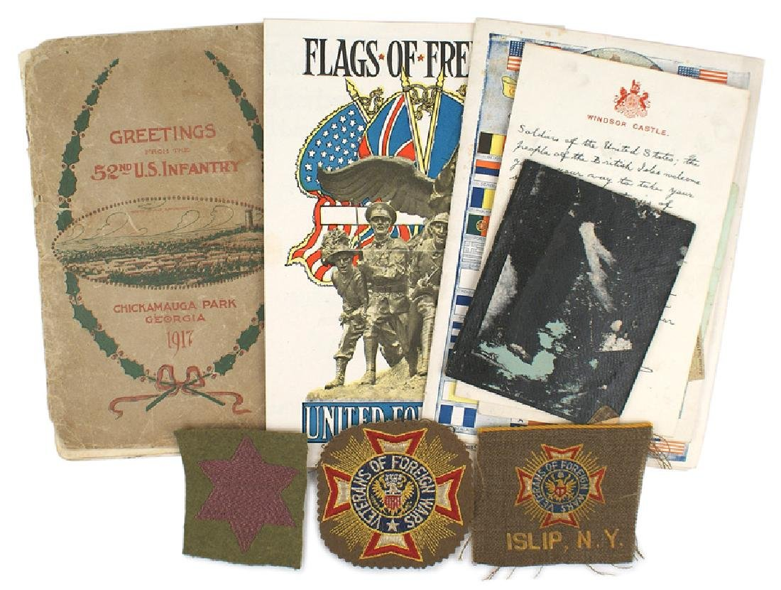 U.S. WWI doughboy lot 52nd Infantry Regiment