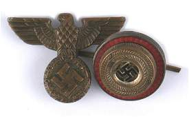 Lot of 2 German WWII insignia cap eagles