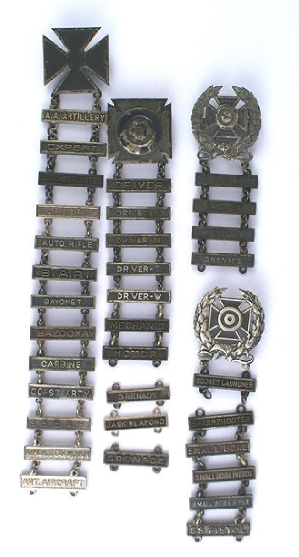 Lot of 4 US WWII badges Rocket Launcher